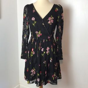 Kate Spade In Bloom Chiffon Mini Dress NWT 4